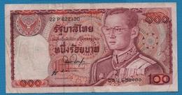 THAILAND  100 Baht   Rama IX ND (1978)Serie 22P 822130  KM# 89 - Thailand