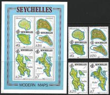Seychelles 1982 Scott 4187-490 MNH Islands, Map - Seychelles (1976-...)