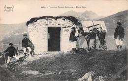 Frontière Franco Italienne (73) - Poste Vigie - âne - France