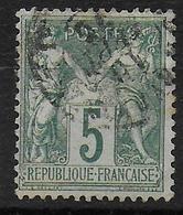 SAGE N/B - YVERT N° 64 OBLITERE - COTE = 50 EUROS - - 1876-1878 Sage (Type I)