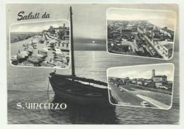 SALUTI DA S.VINCENZO - VEDUTE  - VIAGGIATA FG - Livorno