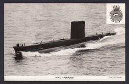 RPPC Modern Real Photo Postcard HMS Porpoise Royal Navy Ship Boat RP Submarine - Warships
