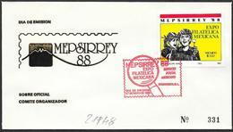 "Messico/Mexico/Mexique: FDC, ""MEPSIRREY '88"" - Archeologia"