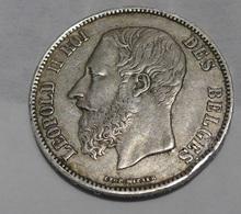 5 Francs Belgique 1867 - Argent - 1865-1909: Leopold II