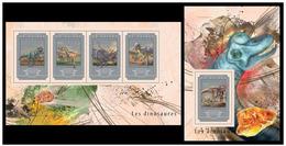 Guinea 2014 Fauna Dinosaurs Klb + S/s MNH - Postzegels