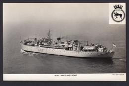 RPPC Modern Real Photo Postcard HMS Hartland Point Royal Navy Ship Boat RP PC - Warships