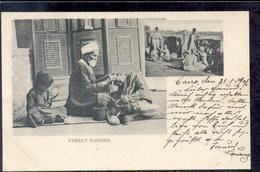 Egypte - Cairo - Street Barber  - 1900 - Zonder Classificatie