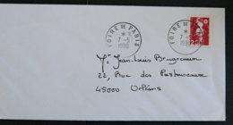 FRANCE - 1990 - FOIRE DE PARIS - Marcophilie (Lettres)