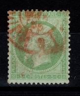 YV 20 Obliteration Rouge , Sans Defaut - 1862 Napoleon III