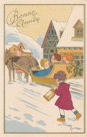 Illustrateur Hiver Neige Marechaux - Bonne Année - Attelage 2 Chevaux - Otros Ilustradores