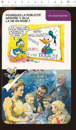 Humour Publicité Donald Walt Disney Peintre En Lettres  Publicitaire Affiche Avec Bouteille Maltine Farine Bébé 01/D-19 - Vieux Papiers