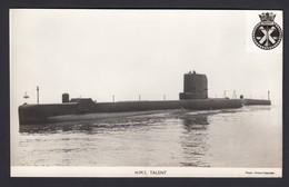 RPPC Modern Real Photo Postcard HMS Talent Submarine Royal Navy Ship Boat RP PC - Warships