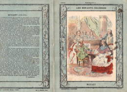 """Couverture De Cahier: """"les Enfants Célèbres"""" MOZART  Légende En 4e De Couverture - Buvards, Protège-cahiers Illustrés"""