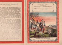 Couverture De Cahier: Guerre De 1870 Légende En 4e De Couverture Ill CH.  ARNOLD Histoire - Buvards, Protège-cahiers Illustrés