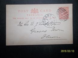 Tasmania, Australia: 1894 Postal Card To (?) (#VN11) - 1853-1912 Tasmania