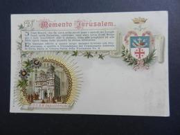 19905) ISRAEL MEMENTO JERUSALEM RICORDO NON VIAGGIATA 1903 CIRCA - Israele