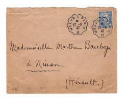 """Lettre Sans Corres. 1947  Ambulant Melun à Paris """"D"""" - Marcophilie (Lettres)"""