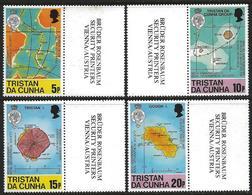 Tristan Da Cunha 1980 Scott 283-286 MNH Geography Society, Islands, Map, Geology - Tristan Da Cunha