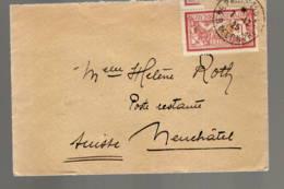 ENVELOPPE 1925 PARIS EN SUISSE A NEUFCHATEL - Marcophilie (Lettres)