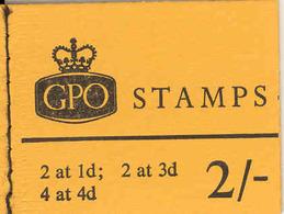 GREAT BRITAIN, Booklet N31p, 1968, 2/-, Jan, Phosphor. - Markenheftchen