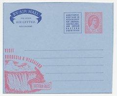 Postal Stationery Rhodesia & Nyasaland Waterfalls - Victoria - Timbres