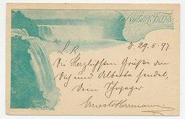 Postal Stationery USA 1897 Waterfalls - Niagara - Timbres