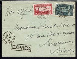 FR - Timbres PA 5 + 259 Sur Enveloppe En Exprès De Paris Pour Lausanne - B/TB - - 1921-1960: Moderne