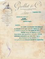 Suisse Facture Lettre Illustrée 2/9/1910 GRELLET  Ex Morell Vin Du Diable  LAUSANNE - Papier Transparent - Suisse
