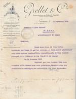 Suisse Facture Lettre Illustrée 22/9/1915 GRELLET  Ex Morell Vin Du Diable  LAUSANNE - Papier Transparent - Suisse