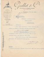 Suisse Facture Lettre Illustrée 19/5/1926 GRELLET  Ex Morell Vin LAUSANNE - Suisse