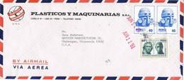 31725. Carta Aerea LIMA (Peru)  1981. Stamp Tupac Amaru. Comercial Plasticos - Perú