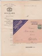 Suisse Lettre Illustrée Publicité Tarifs Avec ENVELOPPE Et Timbre PERFORE 19/3/1907 Chocolat SUCHARD NEUCHÂTEL - Suisse