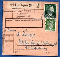 Colis Postal  /  Départ Haguenau / 13-11-43 - Allemagne
