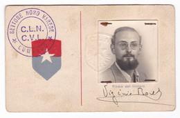 TESSERA C.L.N. / C.V.L. - CORPO VOLONTARIO DELLA LIBERTA' - - Documenti Storici