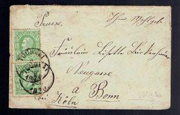N° 30 X 2 + 26 X 5 ( Au Verso ) / Lsc Format Carte De Visite Tournai 9 ? 1876 Vers L'Allemagne ( 10 11 76 ) - Belgique