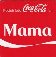 """Unused Coaster Coca-Cola Coca Cola Family """"mum - Mother""""   Serbia - Sous-verres"""