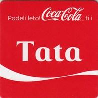 """Unused Coaster Coca-Cola Coca Cola Family """"dad""""   Serbia - Coasters"""