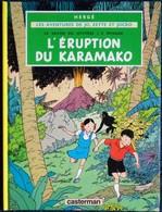 "Hergé - "" L'éruption Du Karamako "" - Les Aventures De Jo, Zette Et Jocko - Casterman . - Jo, Zette & Jocko"