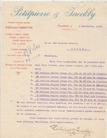 Suisse Facture Lettre 3/9/1912 PETITPIERRE & JAECKLY Tubes Pour Cigarettes NEUCHÂTEL - Suisse