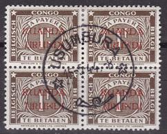 Ruanda-Urundi - TX18 En Bloc De 4 Oblitéré à Usumbura - 1944 - Ruanda-Urundi