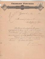 Suisse Facture Lettre 4/5/1897 Charles FISCHER Transports Internationaux GENEVE - Suisse