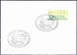 "BRD FGR RFA - Stempelvorlage ""12. Leeraner Soldatenmarsch"" (MiNr. ATM 1) 1986 - [7] République Fédérale"