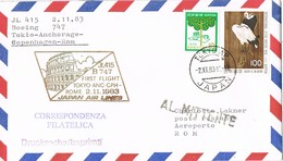 31730.  Carta Aerea First Fligth TOKYO (Japon)  A Roma 1983.Boeing 747. Devuelto A Remitente. RETOUR - Corréo Aéreo