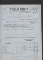 Suisse Facture 22/10/1887 Charles FISCHER Transports Internationaux GENEVE - Suisse