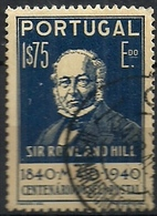 Portugal 1940 Postage Stamp Centenary - 1º Centenário Selo Postal Sir Rowland Hill Canc - Rowland Hill