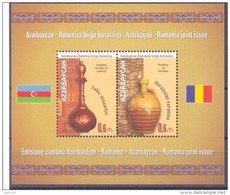 2014. Azerbaijan, Traditional Folk Art, Jugs, Joint Issue With Romania, S/s, Mint/** - Aserbaidschan