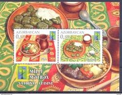 2016. Azerbaijan, RCC, National Cuisine, S/s, Mint/** - Aserbaidschan