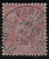 SAGE N/U - YVERT N° 81 ROSE PALE OBLITERE - COTE = 150 EUR. - TB - 1876-1898 Sage (Type II)