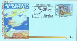 31734.  Aerograma BARCELONA 1995. 75 Aniversario Correo Aereo - Aéreo