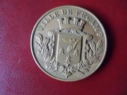 Ancienne Médaille De Table Bronze Ville De FECAMP. - Touristiques